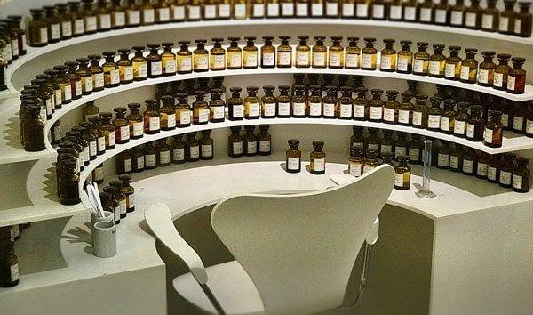 Muestras para probar perfumes